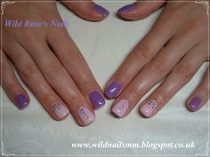 Wild Rose's Nails: Purple & Pink