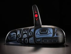 Travels the Ocean (Killerwhale) by Preston Singletary, Tlingit artist