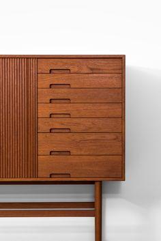 Very rare sideboard designed by Ib Kofod-Larsen Produced by Christensen & Larsen in Denmark, 1955 Mid century, Scandinavian