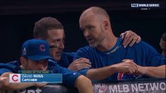 CLEVELAND -- You think you were a basket case watching World Series Game 7? Imagine how the players must have felt. Chicago Cubs first baseman Anthony Rizzo turned to veteran catcher David Ross when things got tense. Ross was miked up for the game, so viewers got hear what they had to say: Here is the full conversation transcribed: