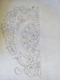 Мои орнаменты Embroidery Motifs, Hand Embroidery Designs, Beaded Embroidery, Wood Carving Patterns, Carving Designs, Pattern Art, Pattern Design, Pencil Design, Beautiful Rangoli Designs