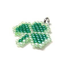 Peyote Stitch Clover, Delica Seed Beads, Bead Weaving