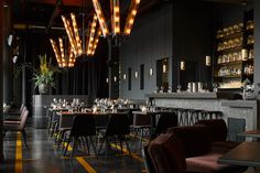 IN THE TUBE chandeliers displayed in 25 Hours Hotel's Heimat restaurant Interior design by Connie Cotte Restaurant Interior Design, Interior Design Living Room, Architecture Restaurant, Interior Designing, Indoor Outdoor, Dcw Editions, Interior Window Shutters, Solar, Bricolage