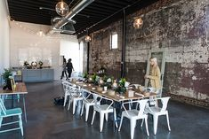 The abundant natural light, vintage plaster walls, bright subway tile and warm, reclaimed wood details turn The Nest Birmingham into a gorgeous blank canvas just begging for splashes of creativity. | LGBT-Friendly Wedding Venues in Alabama That Scream Style