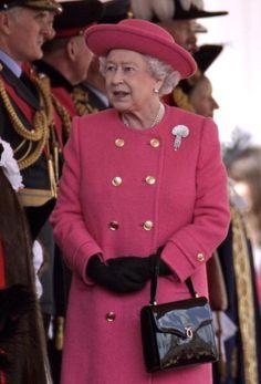 Queen Elizabeth Mar 30, 2009 in Rachel Trevor Morgan..Uploaded by www.1stand2ndtimearound.etsy.com