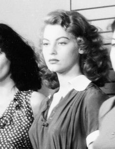 Ava Gardner in an early uncredited role for the World War II film Hitler's Madman (1943), directed by Douglas Sirk.