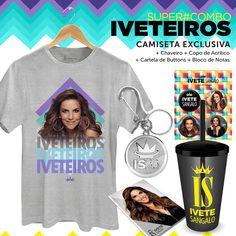 Super Combo Masculino Ivete Sangalo Iveteiros #bandupstore #IveteSangaloShop #Iveteiros
