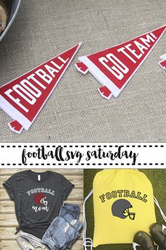 Make these fun football pennants, shirts, or bags with the SVG files from Everyday Party Magazine. #SVGSaturday #SVG #Football