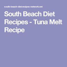 South Beach Diet Recipes - Tuna Melt Recipe