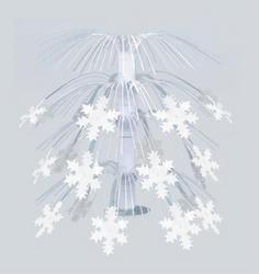 "18"" White Snowflake Cascade Centerpiece"