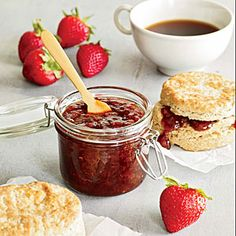Strawberry-Riesling Jam | MyRecipes.com. Made in the slow cooker. What could possibly be so simple