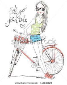 girl with bike #143033128