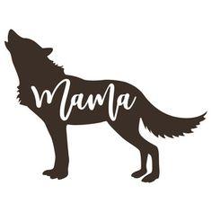 Silhouette Design Store: mama wolf