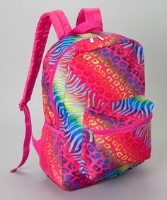 This Pink Rainbow Backpack is perfect! #zulilyfinds