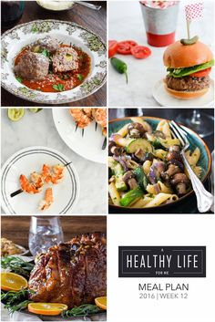 Healthy Weekly Meal Plan 12   ahealthylifeforme.com