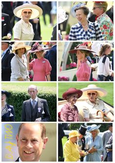 DAY TWO: The Queen was joined by The Prince of Wales, The Duchess of Cornwall, The Duke and Duchess of Gloucester, Prince and Princess Michael of Kent, The Princess Royal, The Earl and Countess of Wessex, Princess Alexandra and friends of the family.
