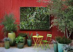 estupendo diseño de jardín vertical