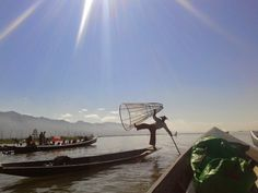 Watching local fisherman do tricks on Inle Lake, Myanmar. However, they did expect some money after this. Floating Garden, Inle Lake, Burmese, Money, Day, Travel, Viajes, Silver, Destinations