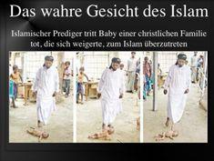 """Baby totgetreten Dieser Moslem, ein islamischer Prediger, tut gerade, was seine Mitgläubigen überall in der Welt ebenfalls tun: Er tötet das, was seine Religion als Lebensunwürdiger"""" bezeichnet (Kuffar)."""