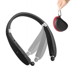 Bluetooth Headset SDICL Wireless Stereo Headphones Neckband with Foldable and Retractable Earbuds 991 BLACK -- Find out more about the great product at the image link-affiliate link. Best Headphones, Bluetooth Headphones, Neckband Headphones, Ps4 Headset, Iphone Accessories, Noise Cancelling, Wire Management, Image Link, Cable