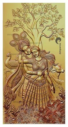 Buddha Painting, Krishna Painting, Mural Painting, Mural Art, Wall Mural, Clay Wall Art, 3d Cnc, Indian Art Paintings, Cnc Projects