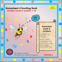 isiXhosa numbers 1 - 10 - Teacha! Honey Bee Facts, Drone Bee, Counting Books, Rhyming Words, Queen Bees, Teaching Resources, Audio Books, Fun Facts