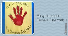 Easy hand print Fathers Day craft Debi breathtaking moment on Moms.com