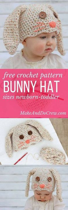 This free crochet bunny hat pattern makes a darling DIY Easter gift for your  favorite baby or toddler. Pair with our free crochet carrot baby toy  pattern. 8ebca3c9b43
