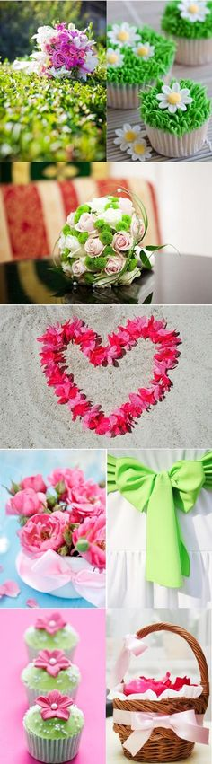 Consider bright pinks and vibrant greens for your big day