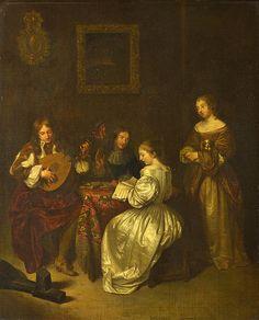 A Musical Party After Caspar Netscher