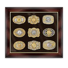 Belt Buckle: Wild West Gold And Silver Belt Buckle Collection
