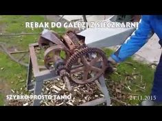 Rębak do gałęzi z sieczkarni - Wood Chipper DIY Homemade - YouTube