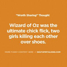 Wizard of Oz.. haaa -> shutupimtalking.com