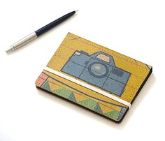 Upcycled Mini Journal Photo Edition by stripeycity on Etsy