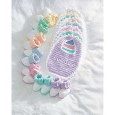 Mary Maxim - Free Baby Bibs & Booties Crochet Pattern - Free Patterns - Patterns & Books