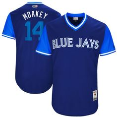 "Justin Smoak ""Moakey"" Toronto Blue Jays Majestic 2017 Players Weekend Authentic Jersey - Royal"