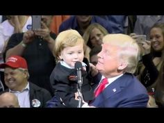 Little Trump Look-Alike Comes on Stage with Donald in Wilkes-Barre 10/10/16 - YouTube