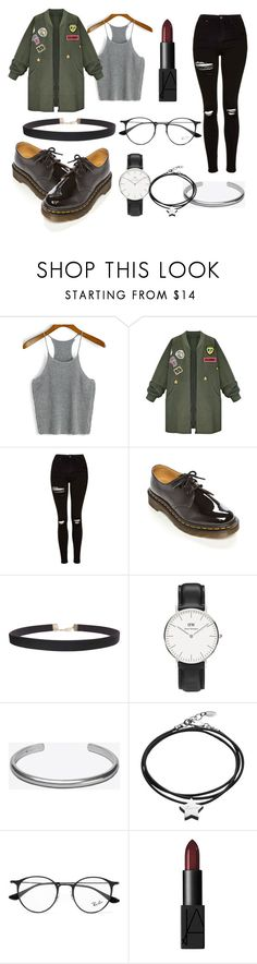 """""""private lessons"""" by lisalue00 on Polyvore featuring Mode, WithChic, Topshop, Dr. Martens, Humble Chic, Daniel Wellington, Maison Margiela, Under the Rose, Ray-Ban und NARS Cosmetics"""