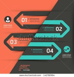 Modern business arrow infographics template. Vector illustration. can be used for workflow layout, diagram, number options, business step options, banner, web design - stock vector