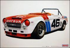 BRE Datsun Fairlady 2000 Roadster for John Morton Datsun Roadster, Datsun Car, Datsun 240z, Nissan Trucks, Old Race Cars, Vintage Race Car, Japanese Cars, Car Wrap, Jdm Cars