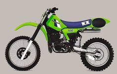 Vintage Motocross. 1984 Kawasaki KX500 Dirt Bike!