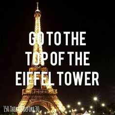 Done it! Been to the top of the Eiffel Tower