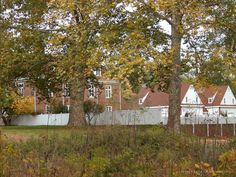 A view of the Manor House from the nature trail at Pennsbury Manor