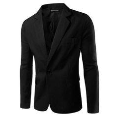 Men Blazer Slim Fit Long Sleeve Single Button Solid Blazer Suit Coat Mens Blazer Jacket Men 2016 Spring/Autumn Blazer Men PZX01