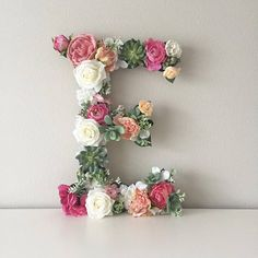 Baby Letters, Wedding Letters, Flower Letters, Nursery Letters, Letter Monogram, Monogram Wedding, Personalized Wedding, Bridal Shower Decorations, Birthday Party Decorations