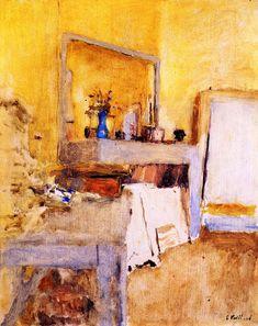 The Athenaeum - Vuillard's Room at the Château des Clayes (Edouard Vuillard - circa No dates listed)