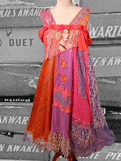 beautiful, bright colors, party dress, recycled, fun clothing, gypsy, made by hand