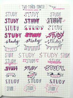 Imagem de font and study