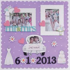 Wedding Scrapbook Pages, Magnetic Memo Board, Do It Yourself Projects, Permanent Marker, Just Married, Embellishments, Special Occasion, Unique Gifts, Magnets