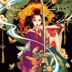 Anime Art Girl, Manga Art, Art Sketches, Art Drawings, Ken Tokyo Ghoul, Geisha Art, Geisha Anime, Anime Kimono, Asian Art
